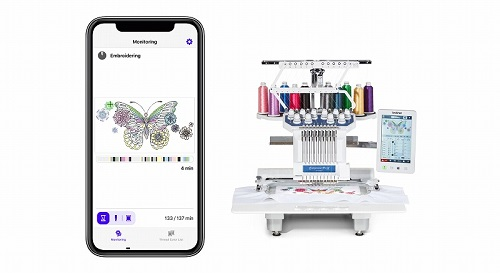 Embroidery monitoring mobile application